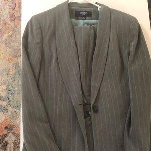 Jones New York Gray Pinstripe Suit